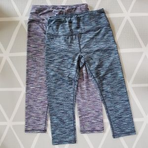 2 pairs of RBX active leggings